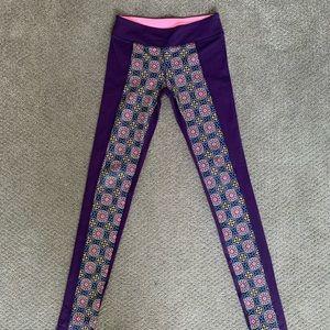 Lululemon Purple Patterned Leggings
